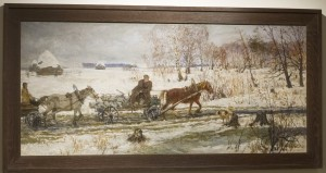 Arkadi-Aleksandrovich-Plastov-A-Muddy-Road-Oil-on-Canvas-54-3-8-x-25-1-4-300x159