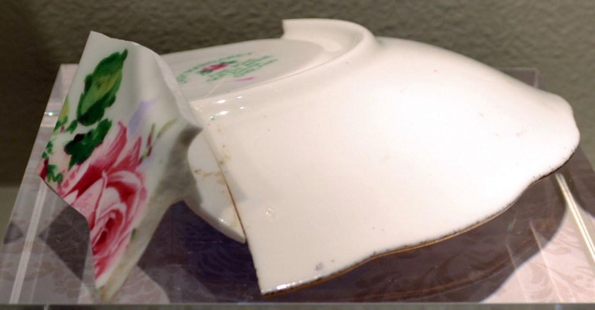 Bone china, overglaze painting