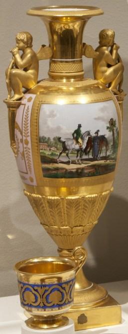 Trumpet form vase, c. 1825-1830