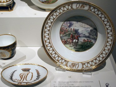 Bowl and dish, Orlov Service, c. 1763