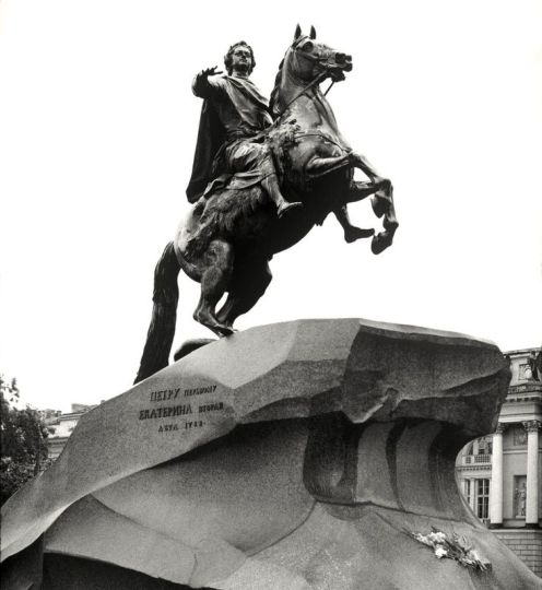 "William C. Brumfield. Monument to Peter the Great ""Bronze Horseman."". 1985. Photograph. 1768 – 1778. Sculptor: Etienne Maurice Falconet"