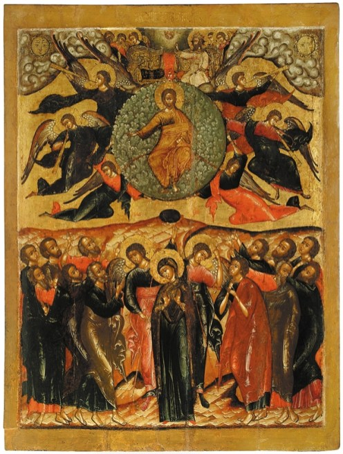 Ascension, mid-17th century. Tempera on wooden panel. 132.5 x 101.3 x 3.2 cm. Yaroslavl Art Museum, Yaroslavl, Russia.