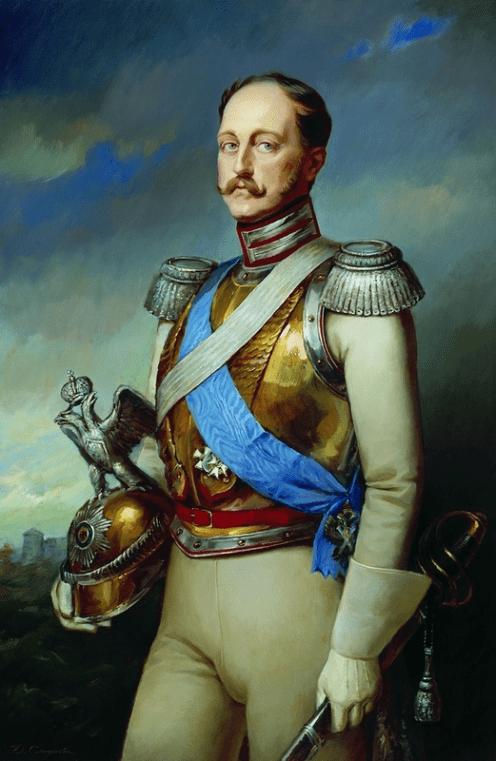 Portrait of Nicholas I, No date. Painting.