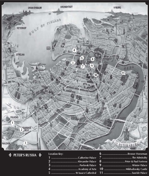 Map of St. Petersburg. 2011. Imperial St. Petersburg: Architectural Visions Exhibition.