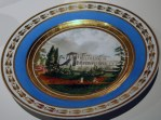 Plate with the view of Cameron Gallery, Tsarskoe Selo, c. 1810