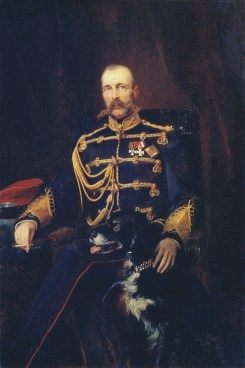 Portrait of Alexander II, 1881. Painting.