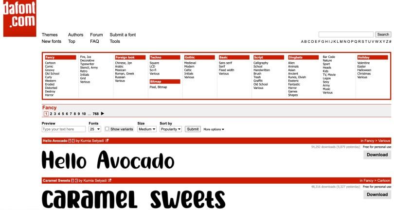 Fancy fonts  dafont.com 2021-06-03 at 7.11.55 PM