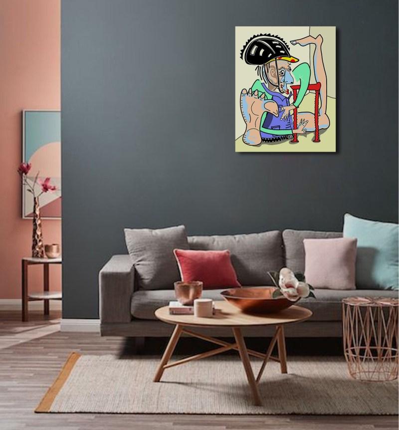 YogaOuPas - originale - peinture néo expressionnisme - tmpx - Salon
