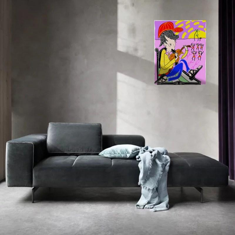 Ukulélé - originale - peinture néo expressionnisme - tmpx