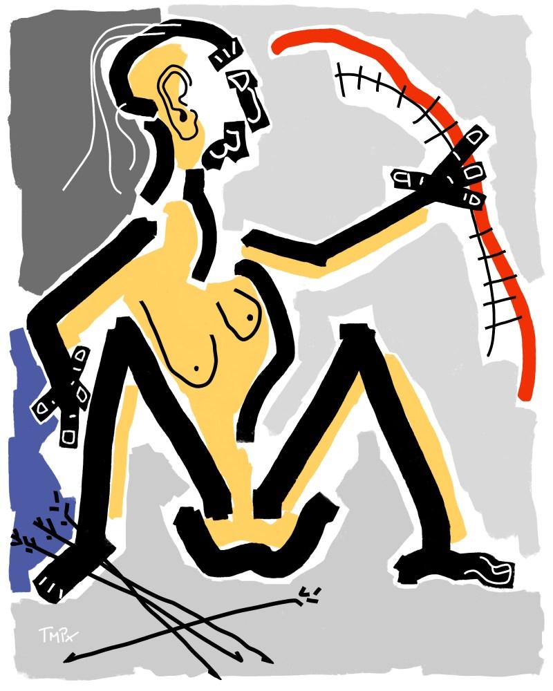 Diane - originale - peinture néo expressionnisme - tmpx