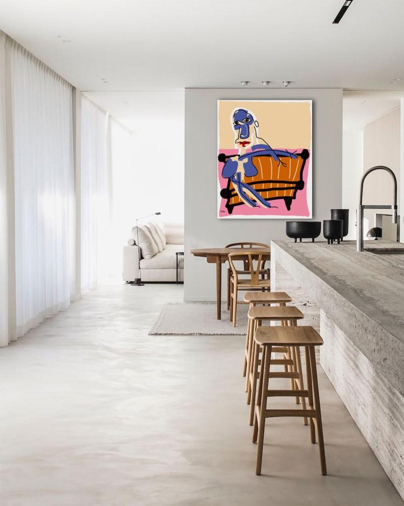 Josiane - originale - peinture néo expressionnisme - tmpx
