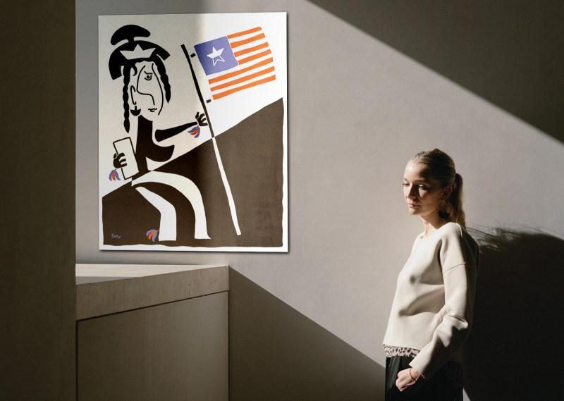 Pocahontas - originale - peinture néo expressionnisme - tmpx