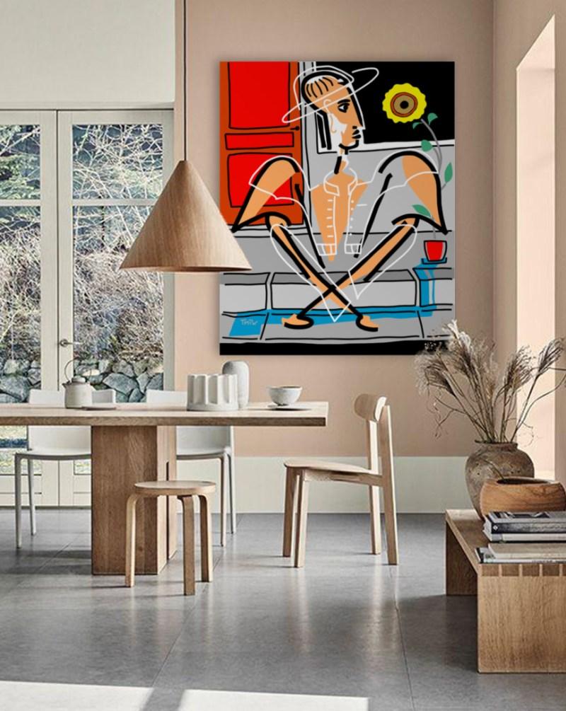 Tournesol - originale - peinture néo expressionnisme - tmpx
