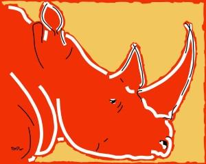 Rhinoceros 91120- copie - peinture néo expressionnisme - tmpx