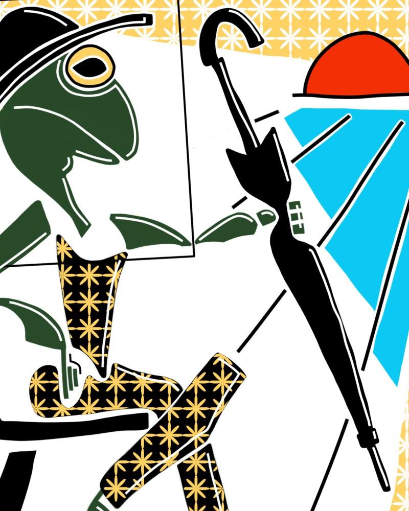 Rainette - originale - peinture néo expressionnisme - tmpx
