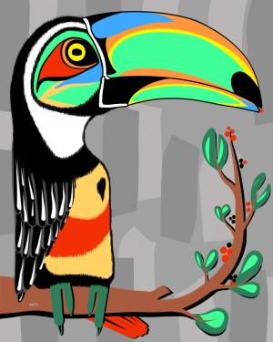 Toucan - copy - painting neo expressionism - tmpx