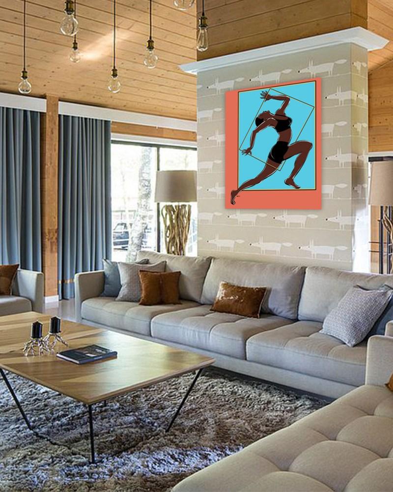 Pose mouvementée - originale - peinture néo expressionnisme - tmpx
