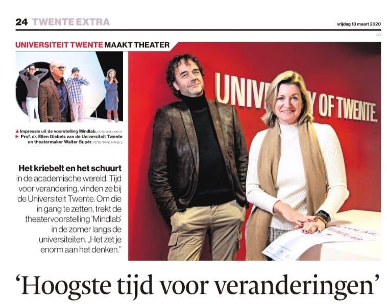 Universiteit Twente maakt theater: 'Hoogste tijd voor veranderingen' 1