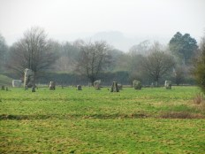 The smaller northern stone circle