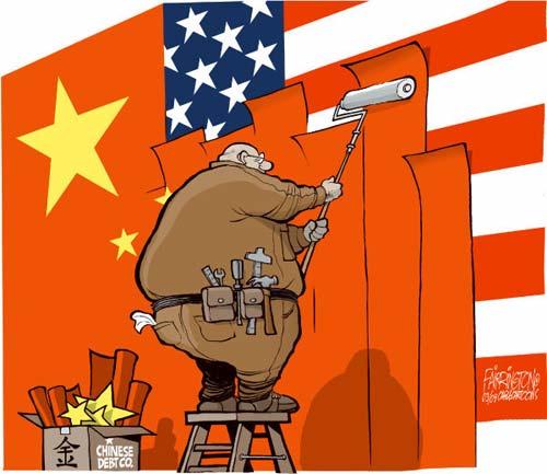 China debt cartoon