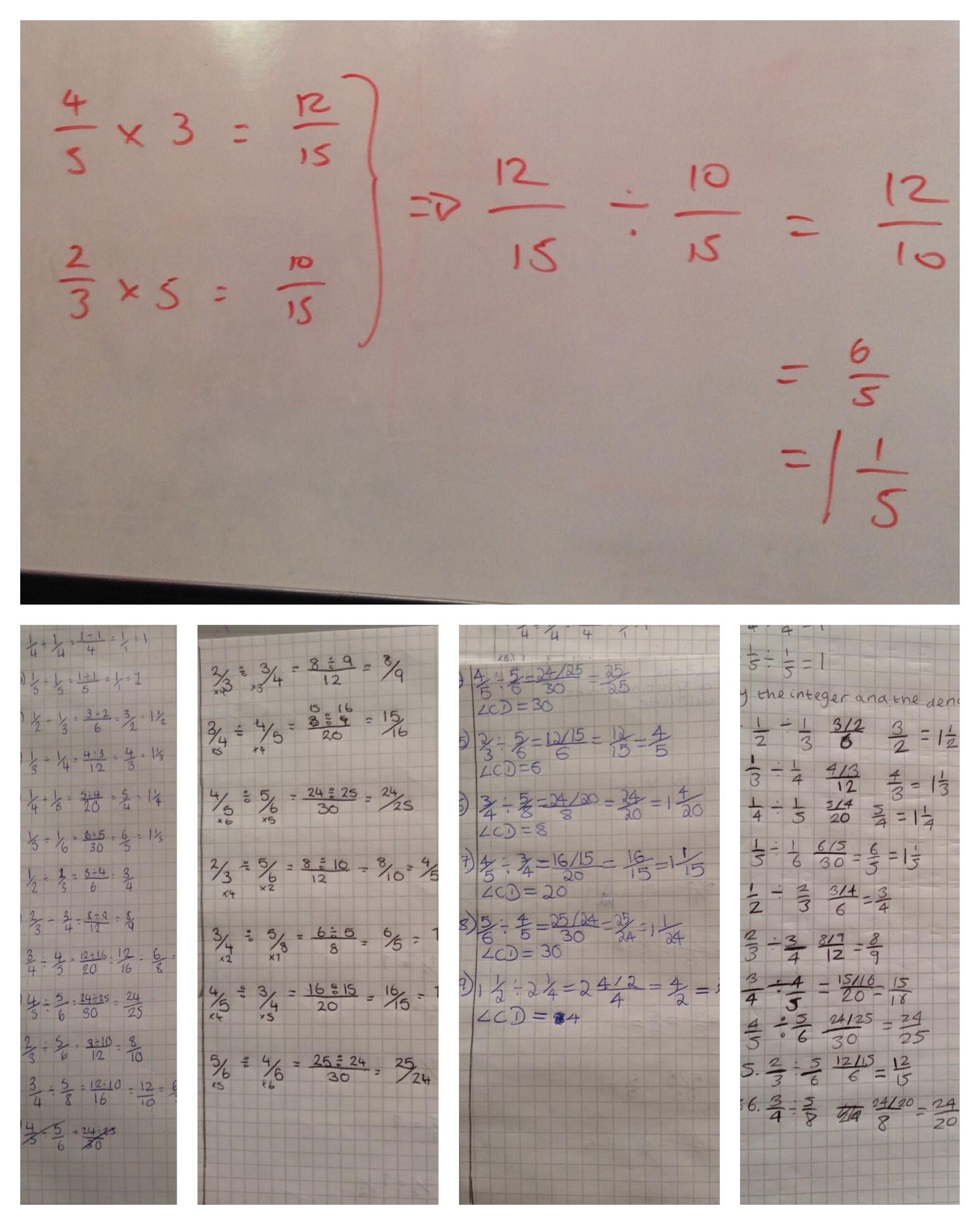 Dividing Fractions The Marlborough Science Academy Maths