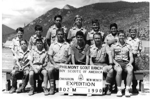 Yucaipa Troop 8 at Philmont, 1990