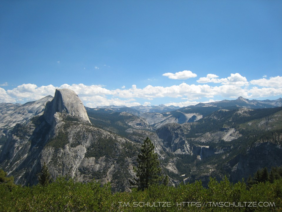 Half Dome and Merced Watershed, Monochrome, by T.M. Schultze