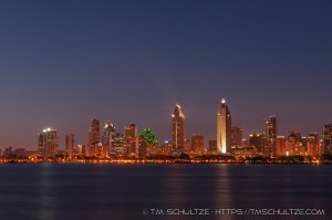 Downtown Nightscape by T.M. Tracy Schultze