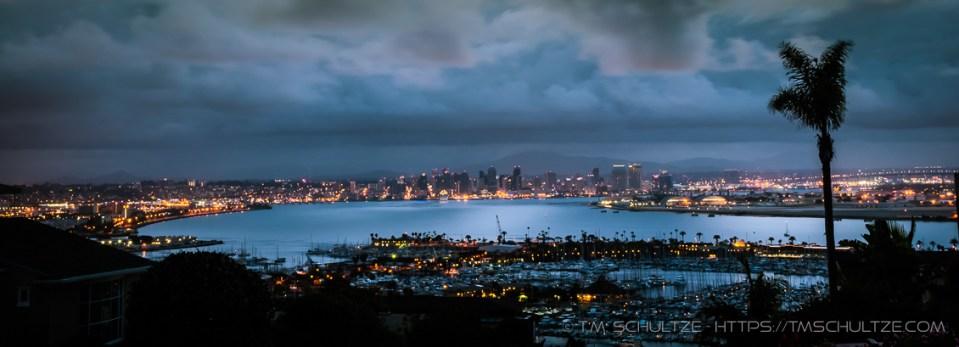 San Diego Bay Twilight by T.M. Schultze