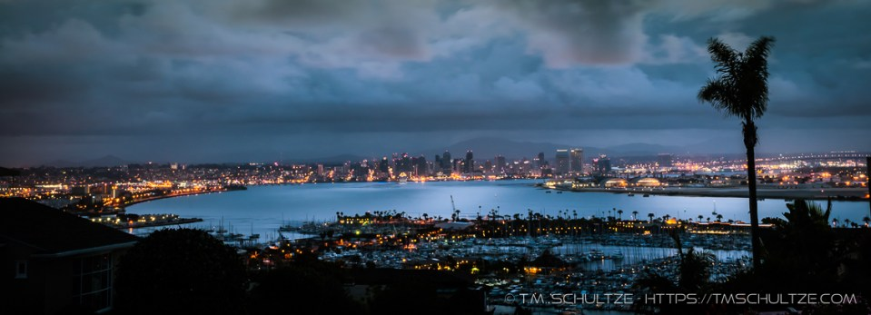 San Diego Bay Twilight by T.M. Schultze