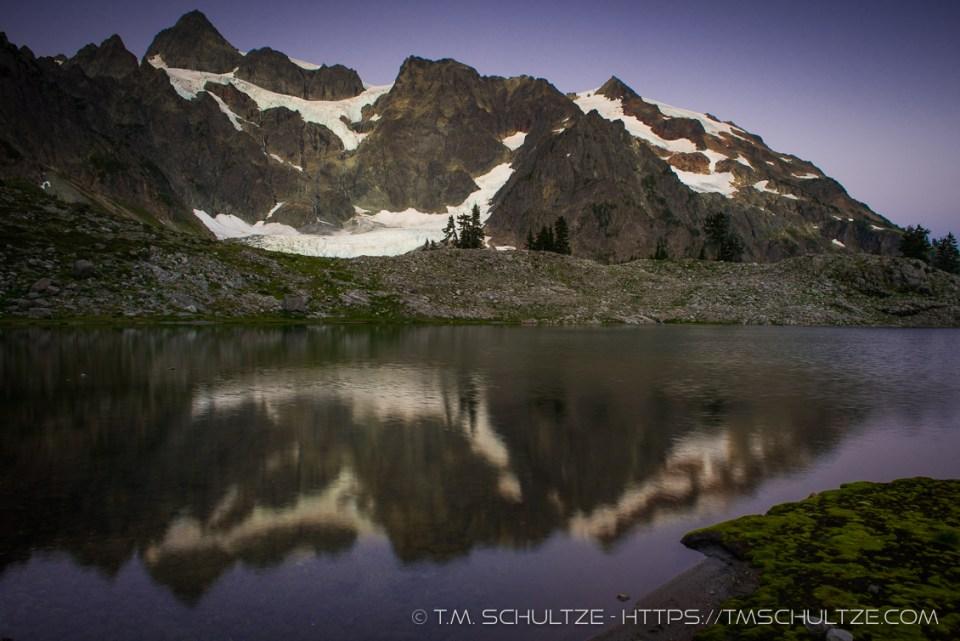 Mt. Shuksan Lake Ann Twilight by T.M. Schultze