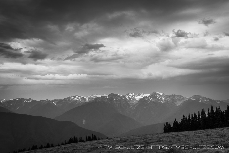 Storm Over Hurricane Ridge by T.M. Schultze
