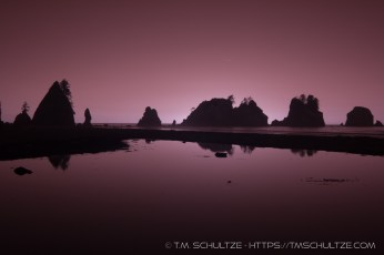 Point of Arches, Shi Shi Beach, Infrared