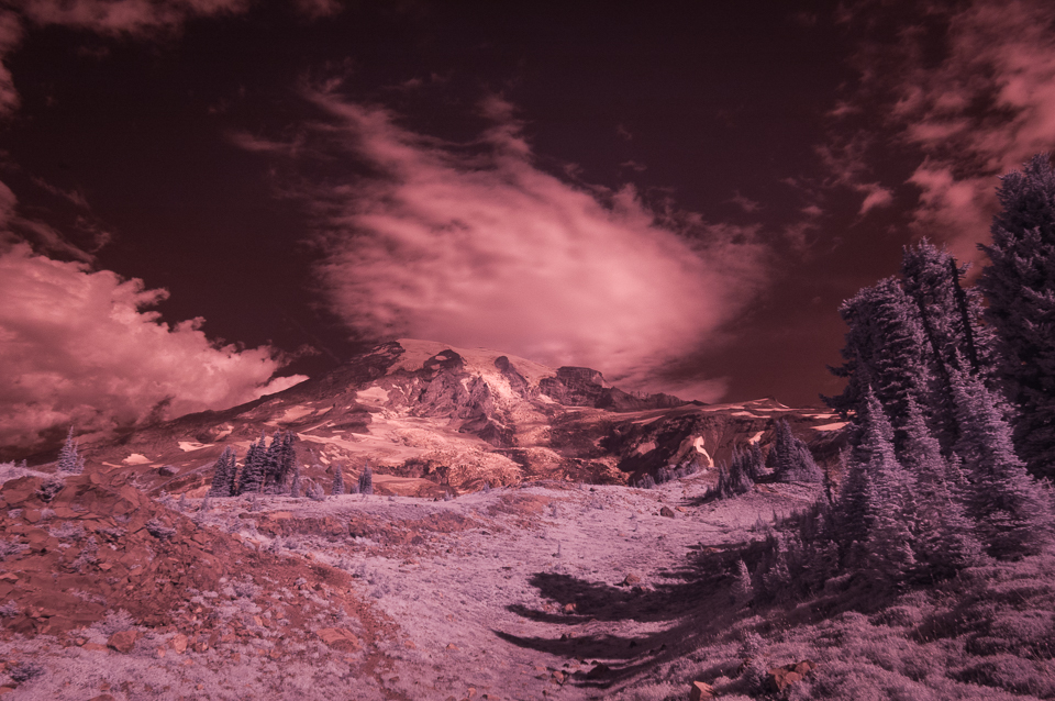 Mt. Rainier Infrared by T.M. Schultze