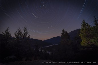 Ross Lake Star Trails