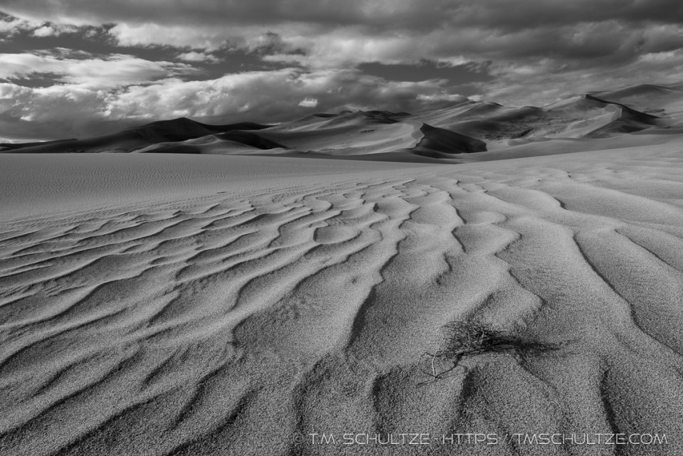 Storm Over Sand Dunes by T.M. Schultze