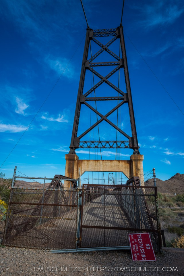 No Trespassing Yuma Bridge To Nowhere, by T.M. Schultze