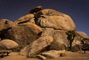 Cap Rock Area At Night