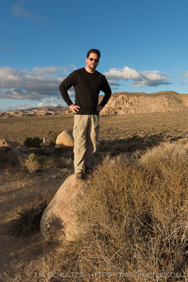 Me At Joshua Tree's Hilltop View, Self-Portrait by T.M. Schultze