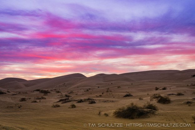 Imperial Sand Dunes, Twilight by T.M. Schultze