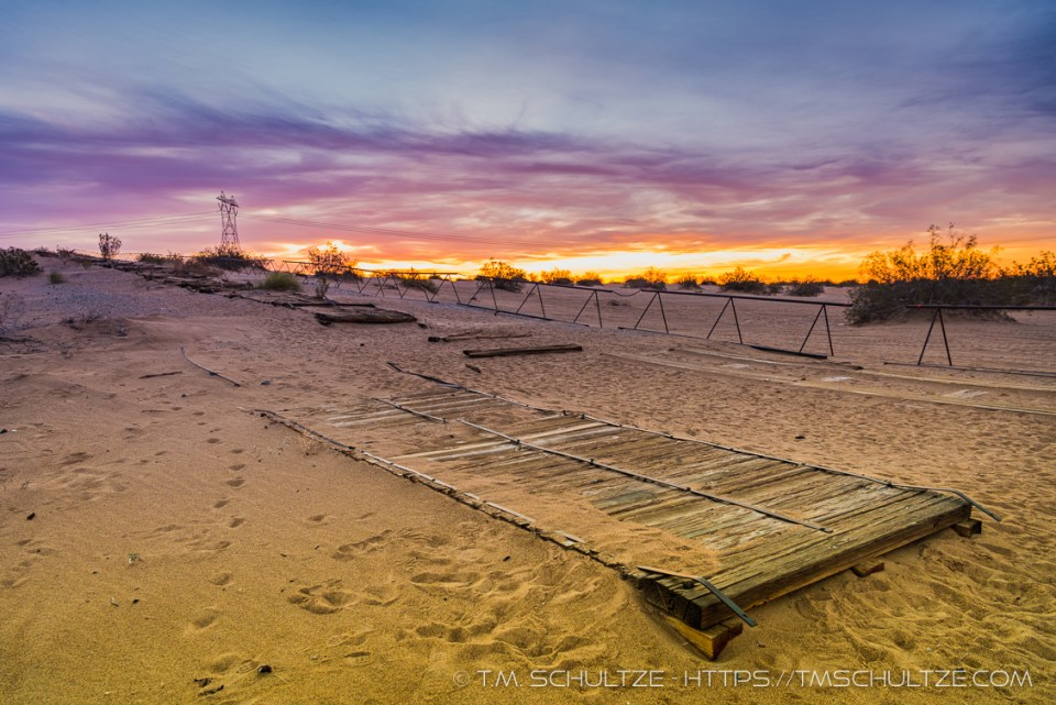Plank Road, Sunrise, by T.M. Schultze