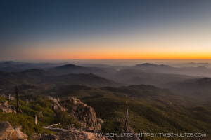 Sunset on Cuyamaca Peak - San Diego County 100 Peaks
