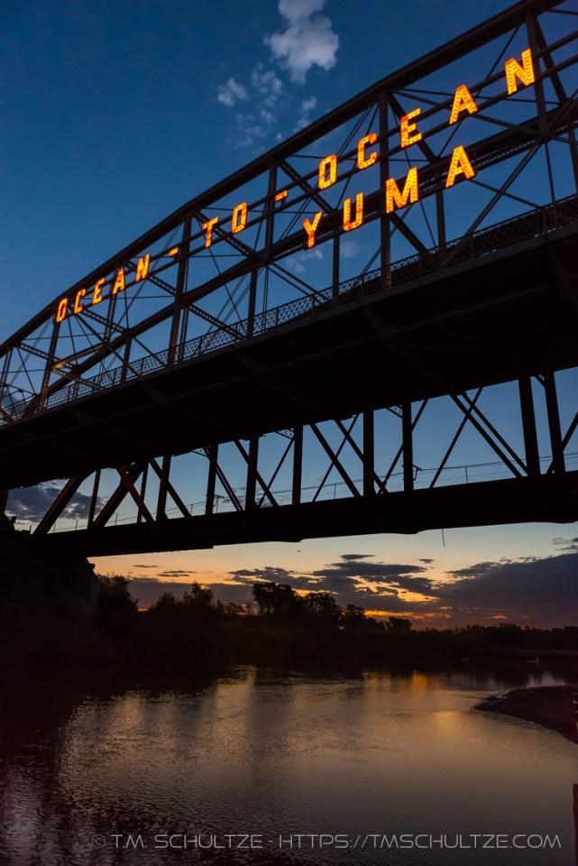 Ocean To Ocean Bridge, Twilight by T.M. Schultze