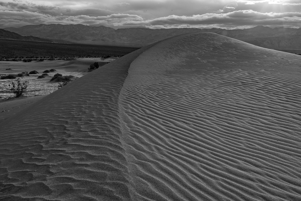 Late Afternoon Sand Dunes, Black and White, by T.M. Schultze
