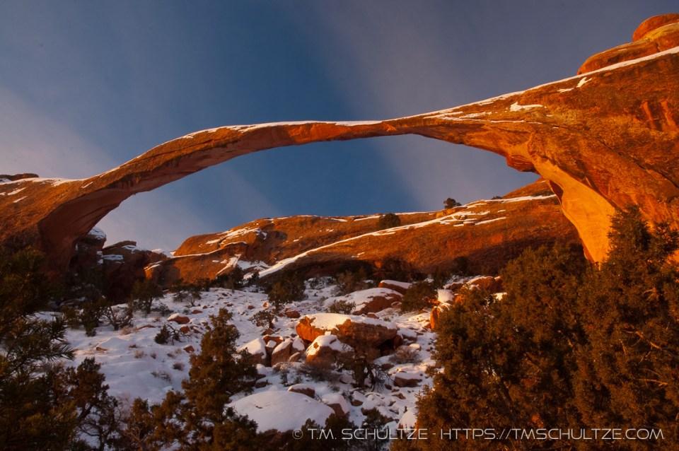 Winter Landscape Arch, by T.M. Schultze