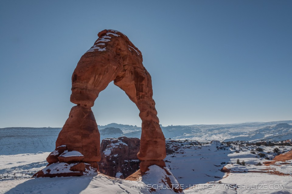 West View of Delicate Arch by T.M. Schultze