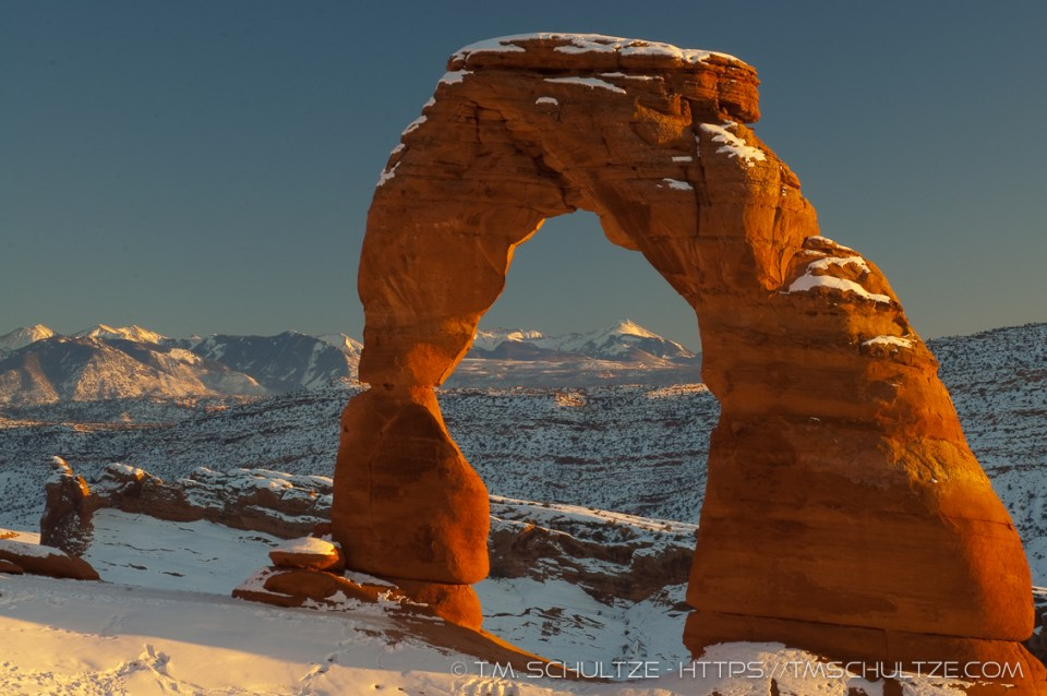 Delicate Arch, Winter, by T.M. Schultze