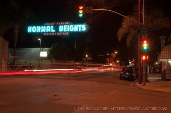 Normal Heights Neighborhood Road Sign
