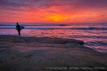Surfer Sunset Cliffs
