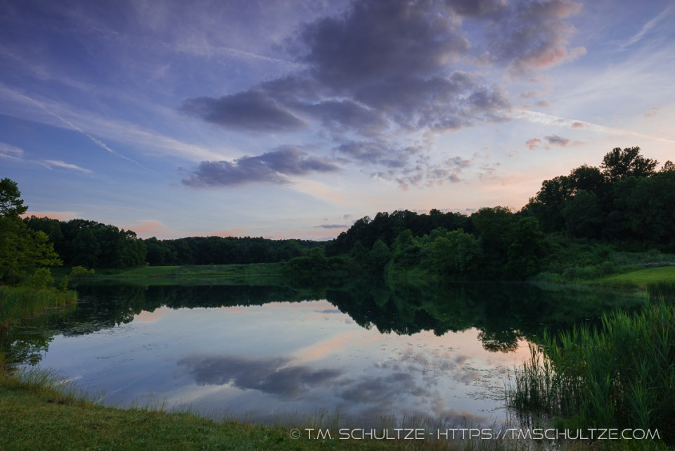 Indigo Lake Twilight, Cuyahoga, by T.M. Schultze